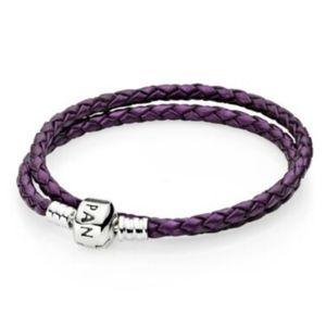 PANDORA Braided Leather Bracelet ( w/ box)